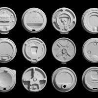Coffee lids of the collection by Louise Harpman and Scott Specht, 2017 Photo Courtesy of Louise Harpman and Scott Specht